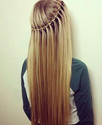 4 strand waterfall braid by @hairstyles_by_Shannon