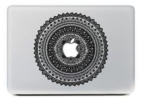 "Wish | INBOX Ethic Flower Around Vinyl Decal Partial Art Stickers Skin for MacBook 11"", MacBook 13"", MacBook 15"", MacBook 17"", Unibody 11/13/15/17 Inch Laptop with 1 Free Cleaning Cloth(DPG-MAC-PF02)"