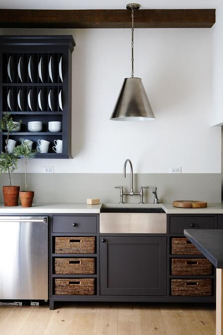Refined Farmhouse Style Kitchen:  from Canadian house and home