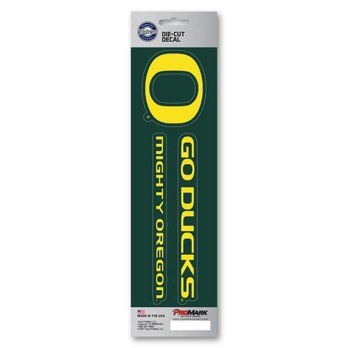 Oregon Ducks Decal Die Cut Slogan 2 Pack