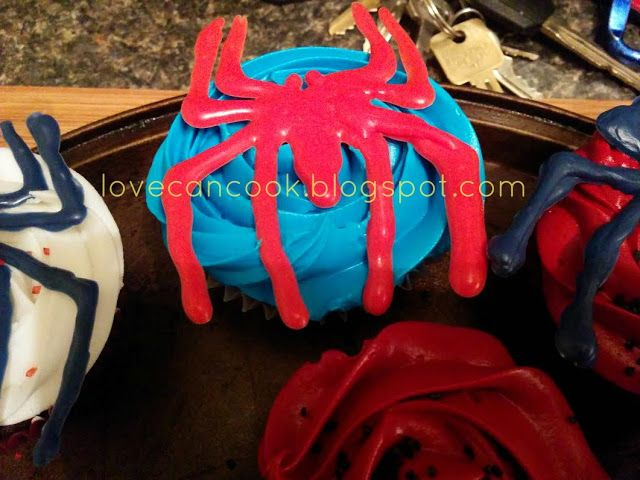 Cooking With Love: GLUTEN FREE SPIDERMAN CHOCOLATE CUPCAKES