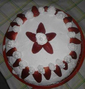 Torta+fragole+e+panna