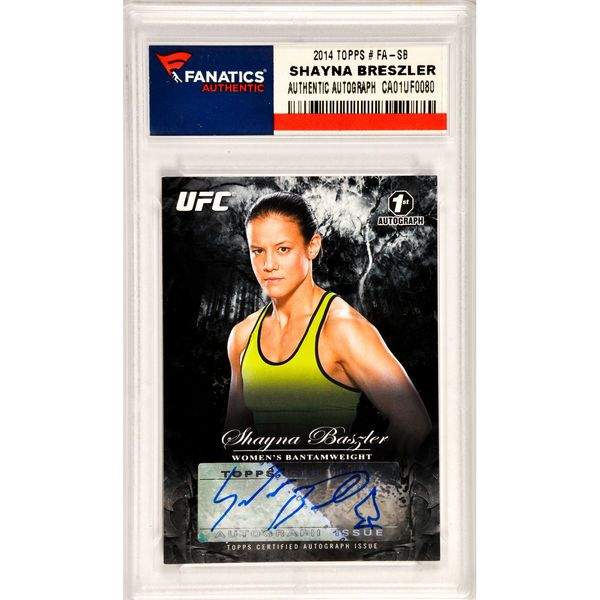 Shayna Baszler UFC Autographed 2014 Topps Bloodlines #FA-SB Card Limited Edition of 225 Pack Pulled - $19.99