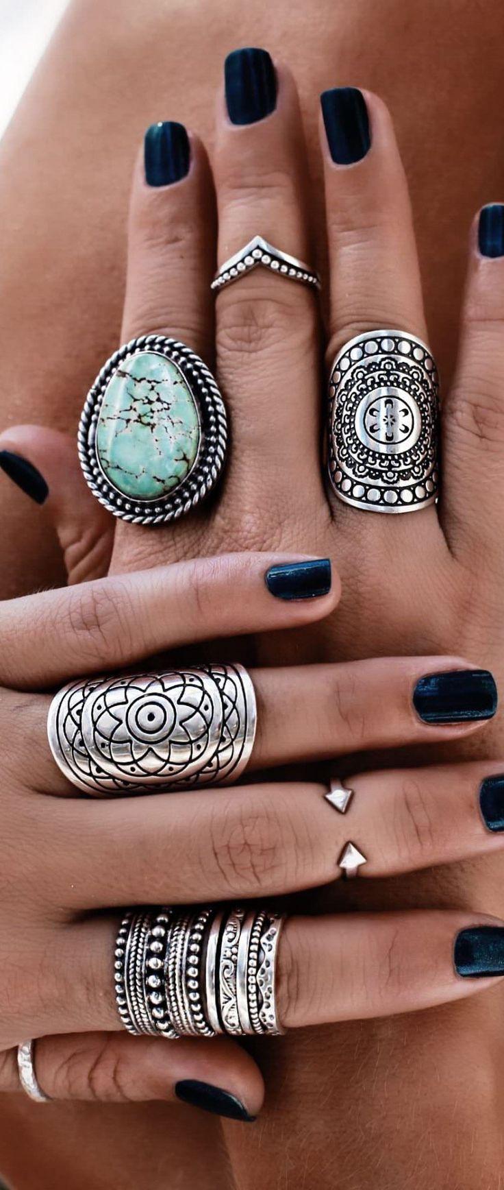 Bohemian style rings