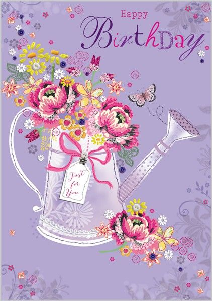 Card Ranges » 4682 » Watering Can filled with Blooms - Abacus Cards - Greetings Cards, Gift Wrap & Stationery