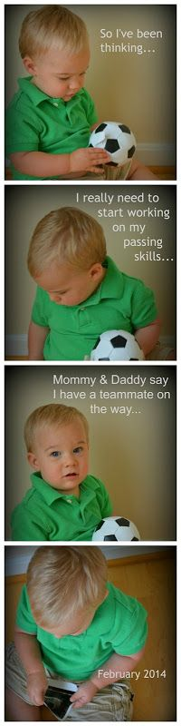 A great way to announce pregnant with baby #2!! I'm so doing this for the son/daughter of a soccer coach!