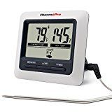 #8: ThermoPro TP04 Digital Cooking Meat Food Thermometer for Smoker Grill Oven BBQ Thermometer Instant Read