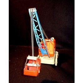 Blechspielzeug - tin toy - Gama 2808 Kran mit Beleuchtung 50er Jahre