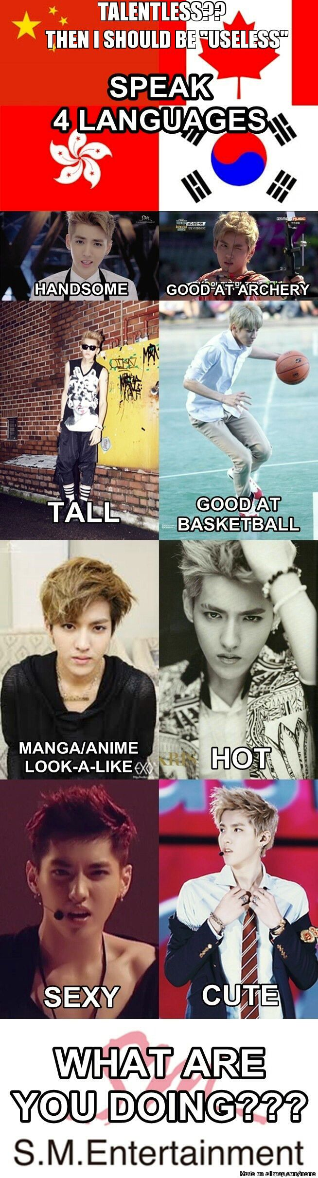#Kris Is Perfect ~ SO TRUE! ... but canadian is not a language! xd ....