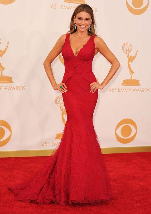 Sofia Vegara by Vera Wang - Emmys 2013