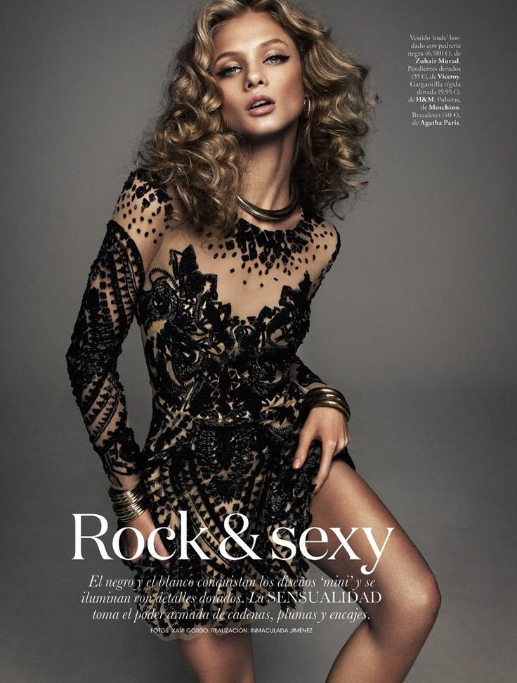 anna selezneva model1 Anna Selezneva is Rock Glam for Elle Spain by Xavi Gordo