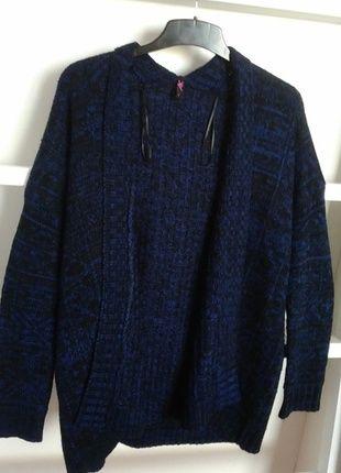 Kupuj mé předměty na #vinted http://www.vinted.cz/damske-obleceni/s-dlouhymi-rukavy/10927049-dlouhy-modrocerny-svetr