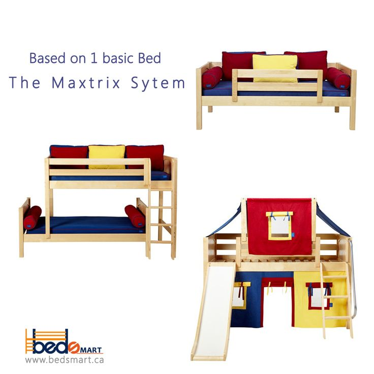 Invest in a Bed that grows with your child. Maxtrix Bunk Beds & Loft Beds are  BEDSMART  #1 seller.  Solid Maple Wood, Tested for 800lbs. Check all options at www.bedsmart.ca