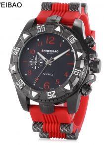 SHI WEI BAO 1368 Relógio de Quartzo para Homem