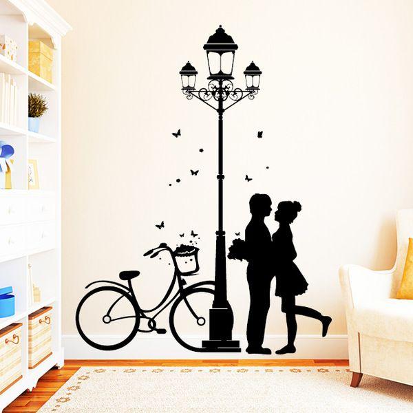 Wandtattoo Straßenlaterne Laterne Lampe Liebe von wandtattoo-loft via dawanda.com