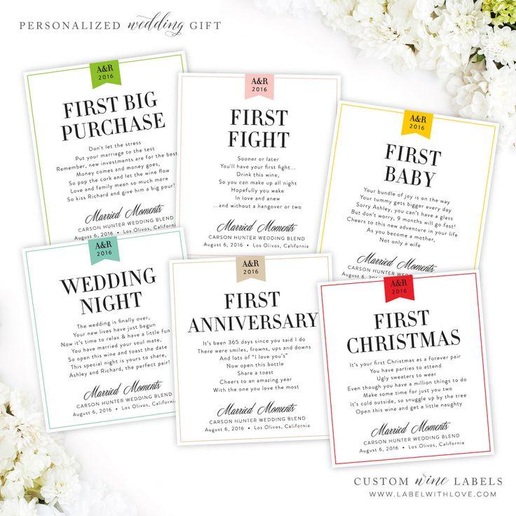 Wedding Milestone Wine Labels Unique Wedding Gifts: 1000+ Ideas About Wedding Wine Labels On Pinterest
