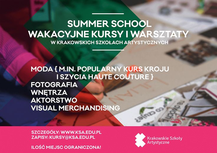 Check summer courses at our school! Everyone will find something for himself. ;) http://bit.ly/KursyLetnieKSA