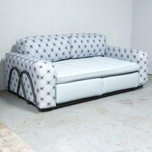 Canapé tissu imprimé L180cm