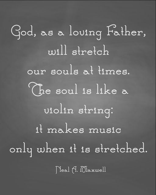 """The soul is like a violin string, it makes music only when it is stretched."" beautiful."