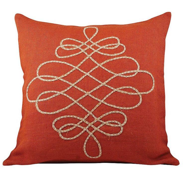 Pomeroy Vaquero Jute Throw Pillow, Red