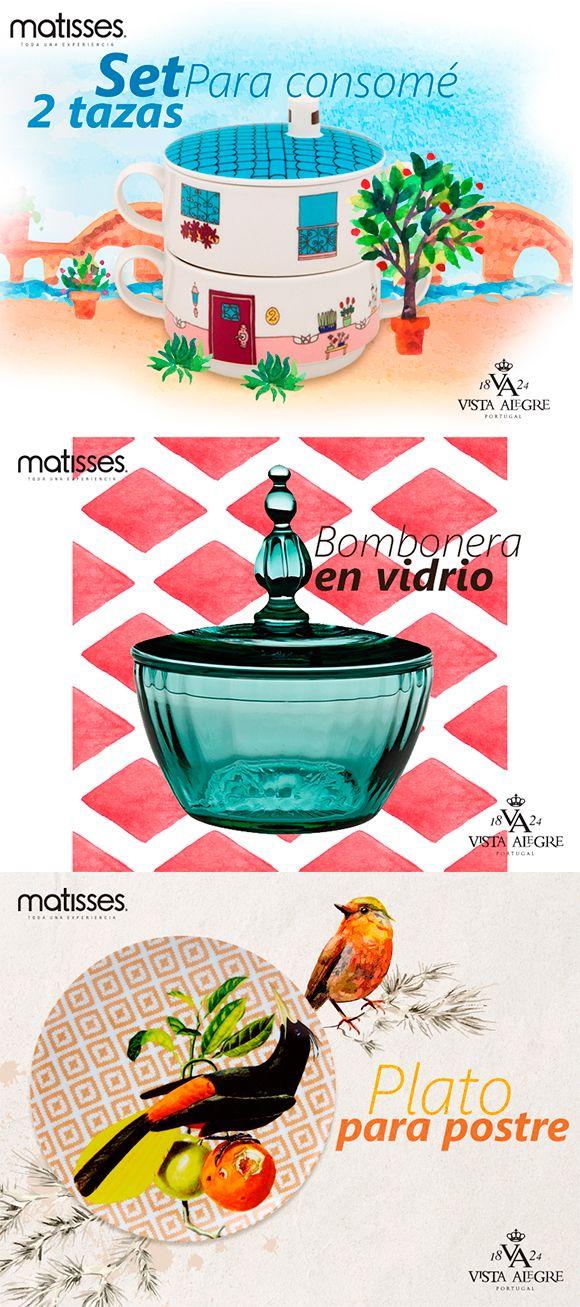 Las vajillas de vista alegre, las podrás encontrar en #MatissesComplementos a partir de Julio.