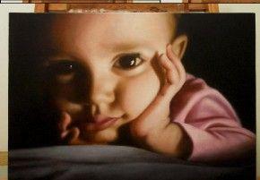 Tablouri pictate: Picturi celebre Tablou pictura ulei Portret de copil