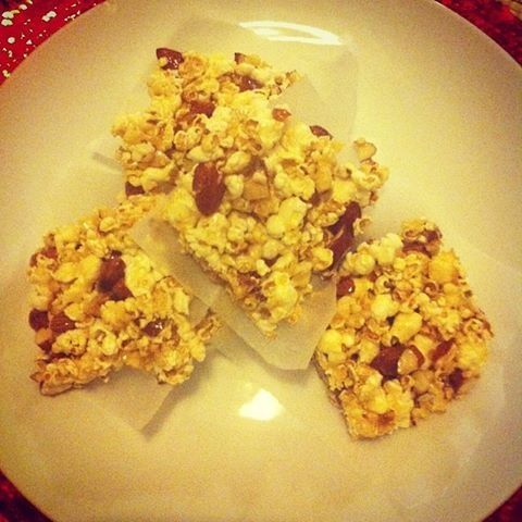 Popcorn & Almond Crunch ( I just made it, so anyone can)  an I Quit Sugar recipe #IQS