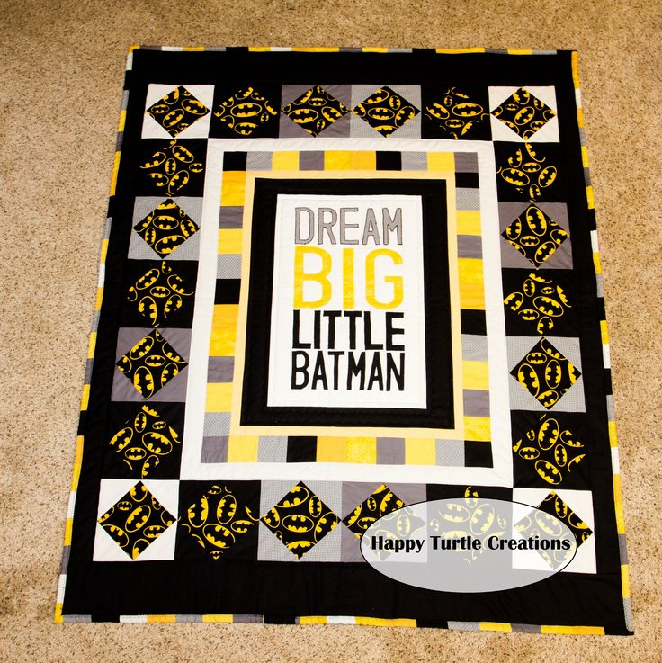 Dream BIG Little Batman Quilt Batman Blanket. Idea of what to make for Greyson