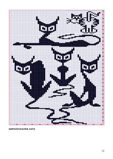 Cross-stitch Funny Cats... 猫咪图 - maomao - 我随心动: