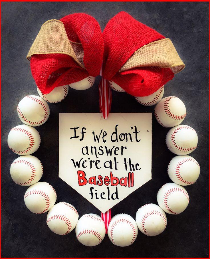 Baseball wreath #baseballwreath #baseball #wreath #homeplate