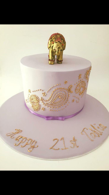 #cakealicious #elephantcake #girlsbirthdaycake