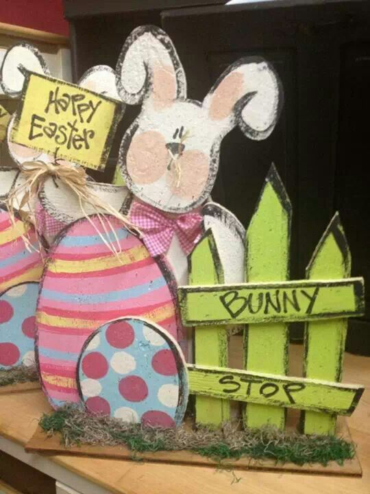 Easter wood crafy bunny and eggs | Crafts - Spring ...