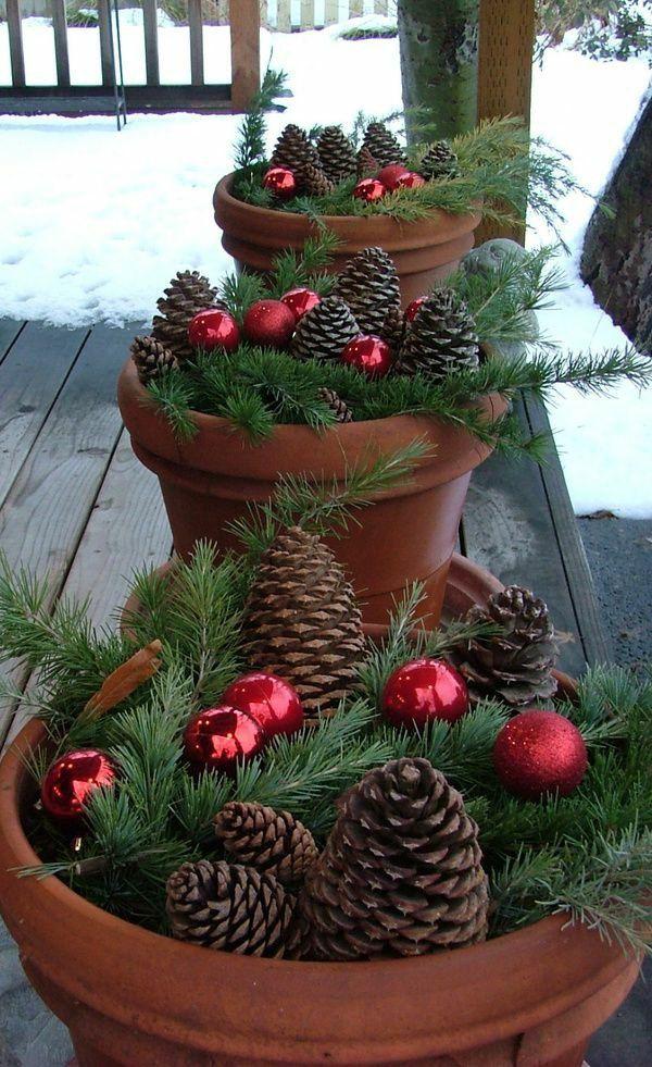 außenbereich weihnachtlich dekorieren