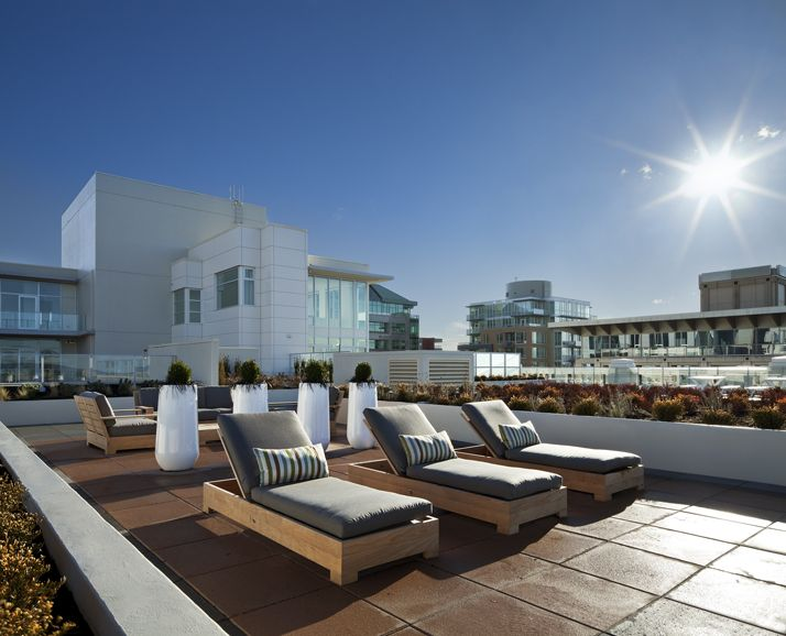 Rooftop Terrace at The Hudson - 14,000 sf of views and lounging space #HudsonDistrict