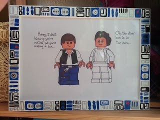 Geeky DIY R2D2 picture frame