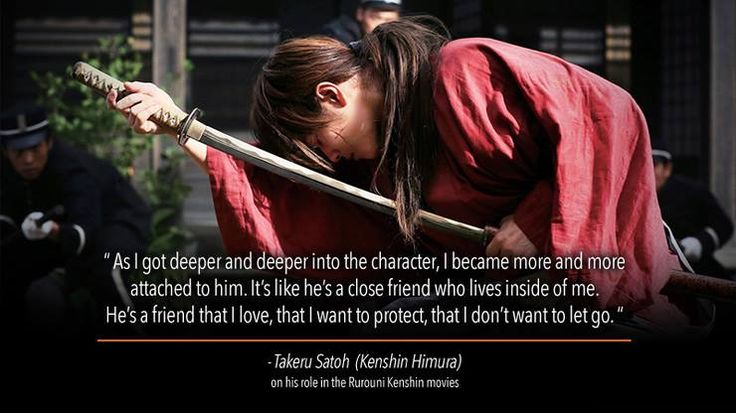 Takeru Satoh (Kenshin Himura) in his role in the Rurouni Kenshin movies