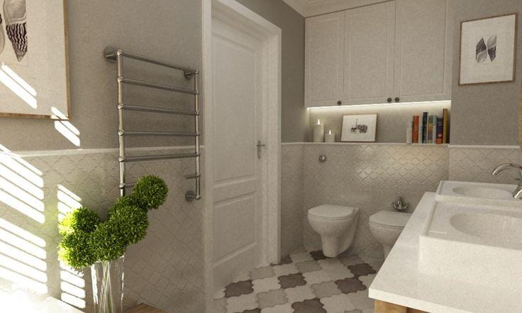 Aranżacje wnętrz - Łazienka: łazienka w stylu hampton - Grafika i Projekt architektura wnętrz. Przeglądaj, dodawaj i zapisuj najlepsze zdjęcia, pomysły i inspiracje designerskie. W bazie mamy już prawie milion fotografii!