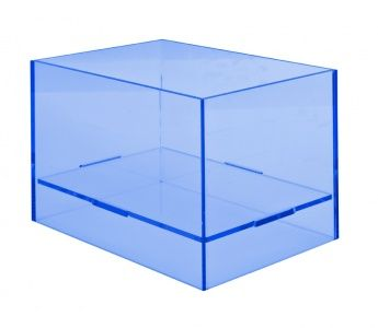 Display box, square, blue