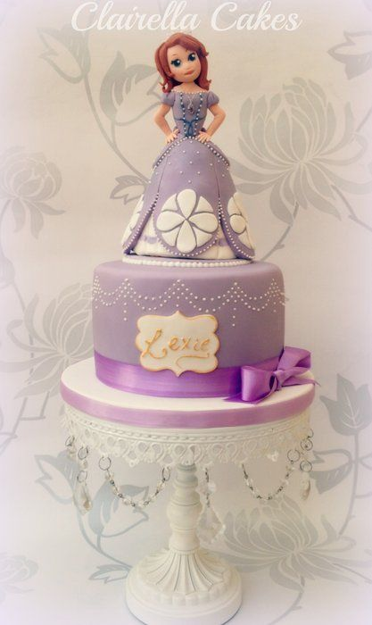 Sofia The First Cake Cake by ClairellaCakes