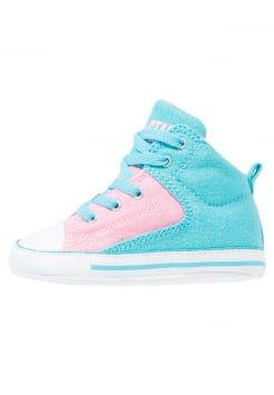 Converse - CHUCK TAYLOR ALL STAR FIRST STAR HIGH STREET - Obuwie do raczkowania - fresh cyan/pink glow/white