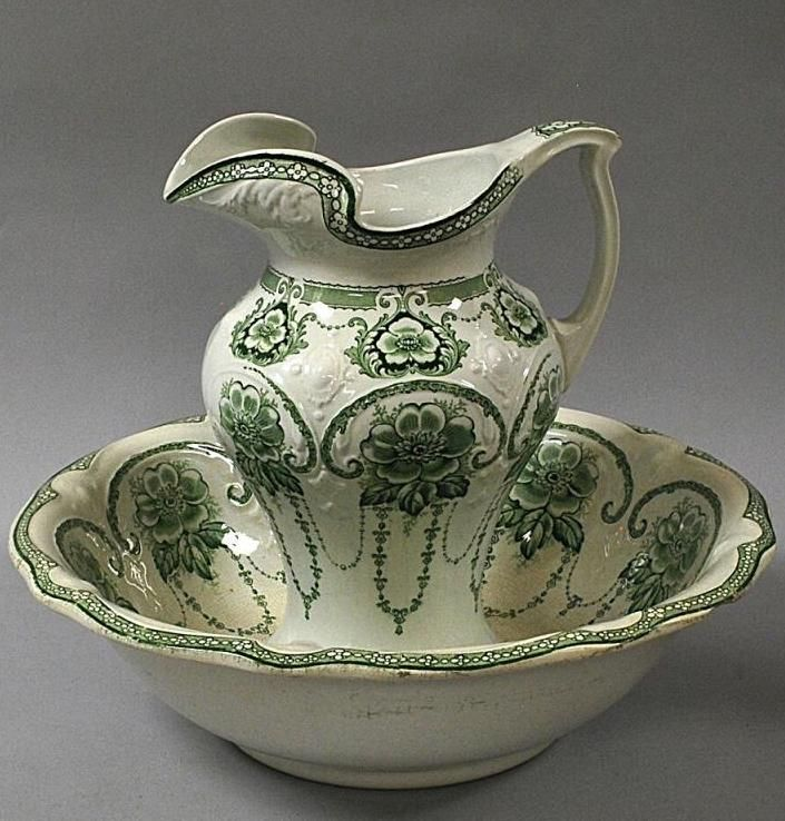 17 best images about wash bowl pitcher set on pinterest auction pottery and victorian bowls. Black Bedroom Furniture Sets. Home Design Ideas