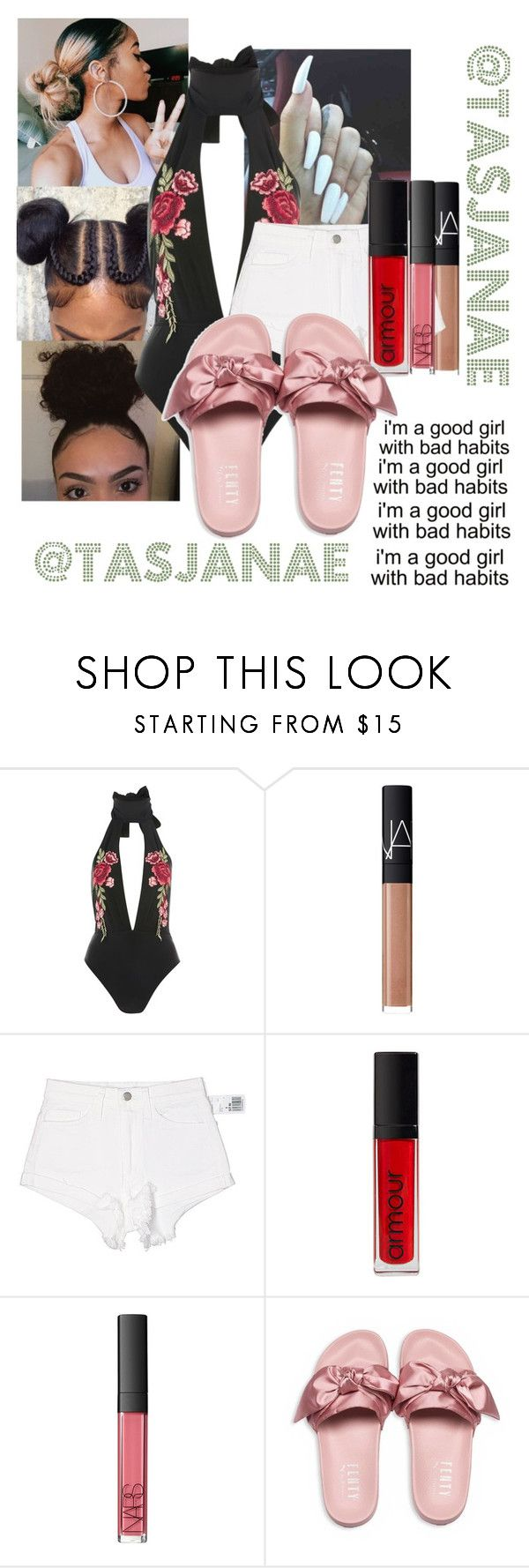"""🥀😍💍"" by tasjanae ❤ liked on Polyvore featuring Rare London, NARS Cosmetics, Forever 21, Armour and Puma"