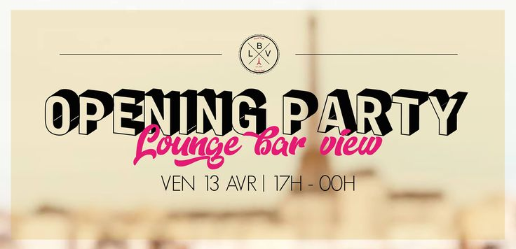 Paris Food & Drink Events: Opening Party Lounge Bar View