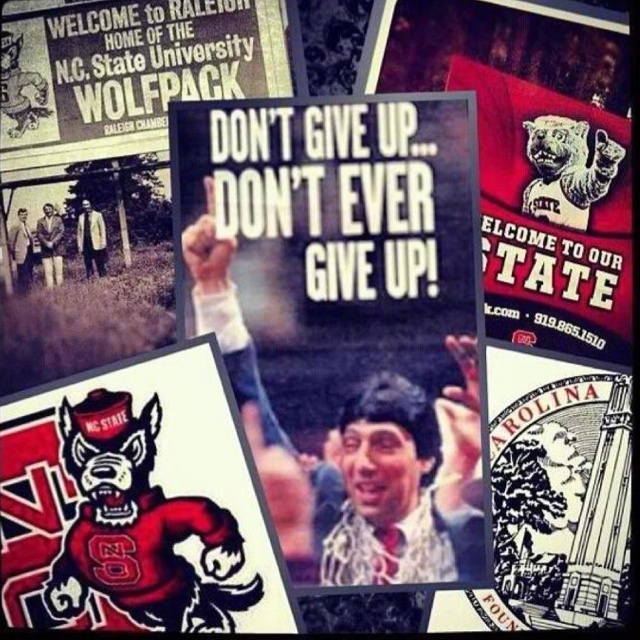 """""""Don't give up. Don't ever give up."""" -Jim Valvano"""