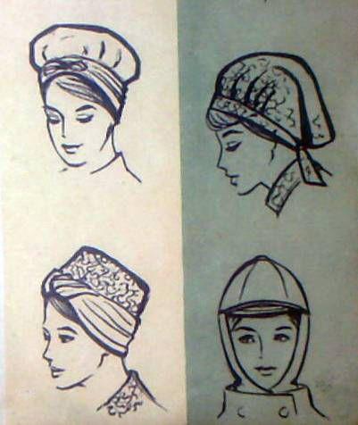 Женские шляпы и шапки 70-х годов