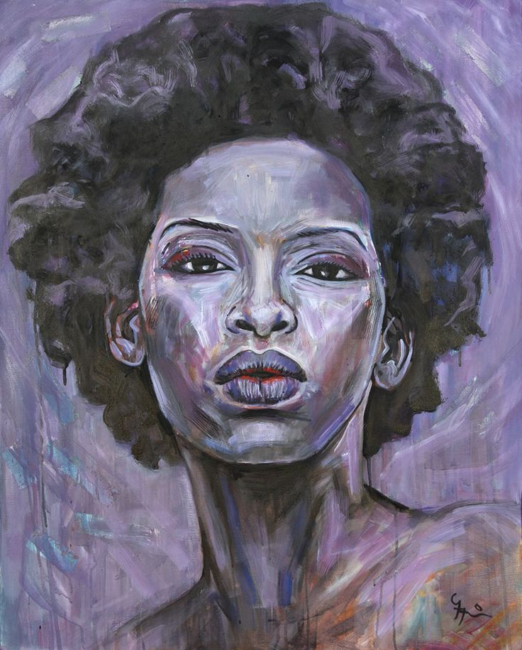 Hypnotize, oil on canvas portrait by South African artist Gary Frier