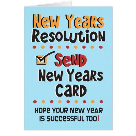CUSTOM Funny New Years Resolution  Greeting Card #newyear #cards or #postage