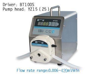 Free Shipping Highly BT100S YZ15  OEM Lab Industrial  Dosing Tubing Peristaltic Pump Filling Liquid Pump 0.006~420ml/min