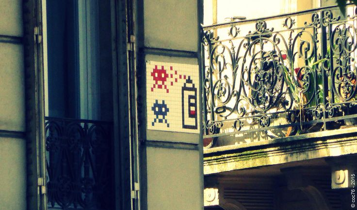 https://flic.kr/p/s9TEMT | Invader - PA_870 | Invaders in Paris! ----------------------------------- PA-870 - Rue Beaurepaire