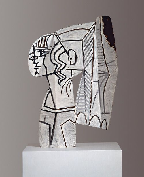 Pablo Picasso (1881 – 1973) Sylvette, 1954 oil painting on both sides on cut-out sheet metal